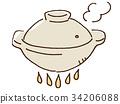 砂锅 烹饪 食物 34206088