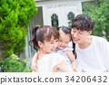 ครอบครัวของทั้งสามครอบครัวเพื่อนที่ดีกอดกัน 34206432