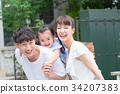 ครอบครัวของทั้งสามครอบครัว Piggyback 34207383