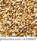 Pixelated gold color stripe pattern background 34208897