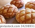 ขนมปัง,ขนมปังเมลอน,อาหาร 34208931