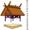 相撲 相撲賽場 矢量 34211128