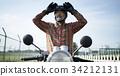 騎摩托車的老人 34212131