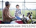 祖父 骑手 自行车 34212242