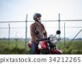 騎摩托車的老人 34212265