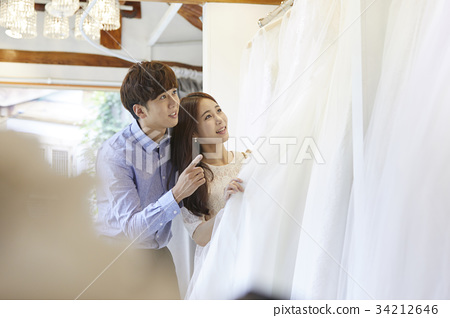 웨딩샵,웨딩드레스,신혼부부,결혼준비 34212646