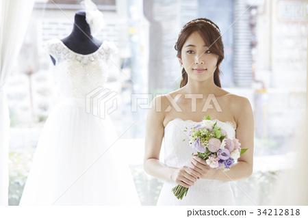 웨딩샵,웨딩드레스,신혼부부,결혼준비 34212818
