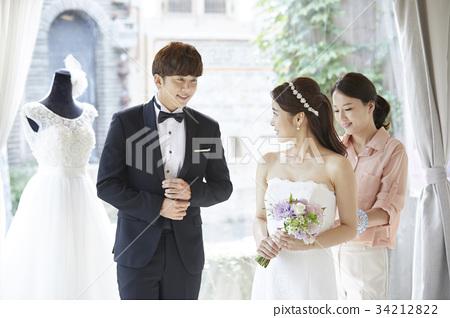 웨딩샵,웨딩드레스,신혼부부,결혼준비 34212822