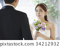 동양인, 마주보기, 미소 34212932