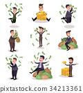 business, vector, man 34213361