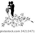 bride, wedding, groom 34213471