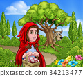 Little Red Riding Hood and Wolf Scene 34213477