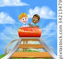 Roller Coaster Kids 34213479