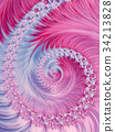 blue pink winter spiral abstract fractal pattern 34213828