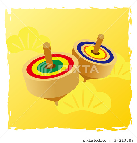 New Year's accessories illustration [top] with background 34213985