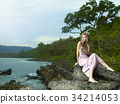 female woman seashore 34214053