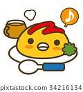 企鵝 大米煎蛋 蛋包飯 34216134