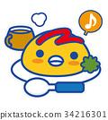企鵝 大米煎蛋 蛋包飯 34216301