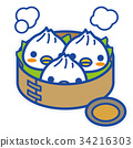 Penguin Cafe Komari包(蓝色格纹线) 34216303