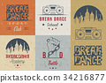 Vector Set of Badges, Logos and Sign Break Dance 34216877