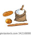 向量 向量圖 法棍麵包 34216898