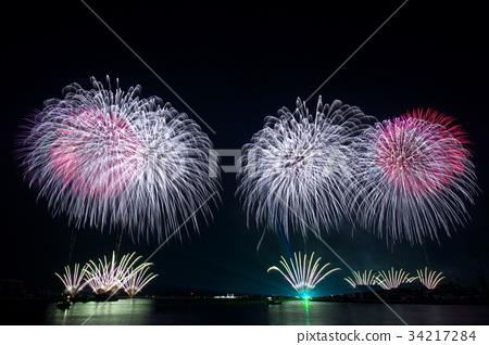 Kanie Bay summer night big fireworks festival 34217284