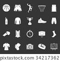 Set of icons basketball 34217362