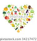 蔬菜 设计 一组 34217472