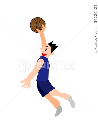 Basket Player Dunk Shoot 34220425