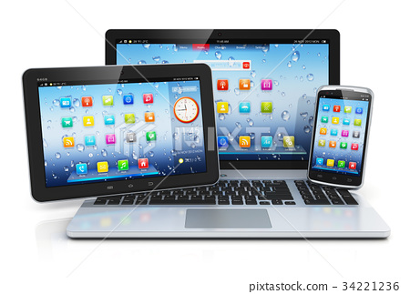 Laptop, tablet PC and smartphone 34221236