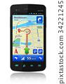 gps navigator smartphone 34221245