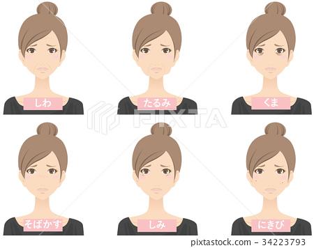 成熟的女人 一個年輕成年女性 女生 34223793