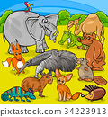 animals, cartoon, collection 34223913