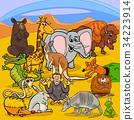 animals, cartoon, collection 34223914