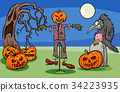 halloween cartoon spooky 34223935