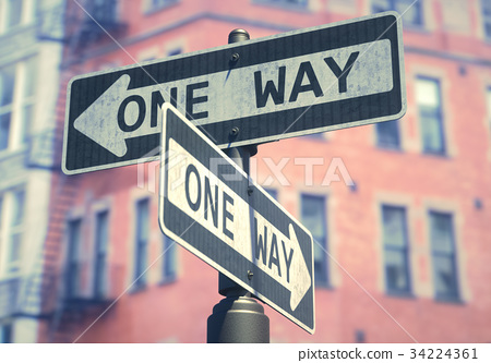 One Way Sign 34224361