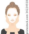 skincare, pack, female 34224550