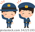 police, officer, salute 34225193