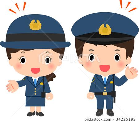 police officer, grinning, smile 34225195