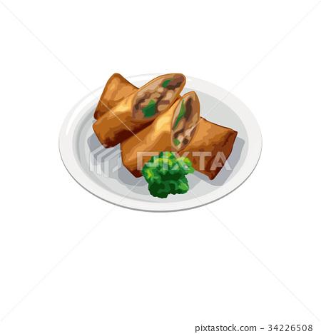 中餐 点心 午餐前吃的点心或蛋糕 34226508