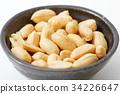 땅콩, 콩, 흰색 배경 34226647