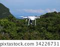 Drones camera in the sky with ocean views  34226731