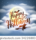 Happy Halloween night background 34226883