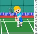 professional badminton player 34227799