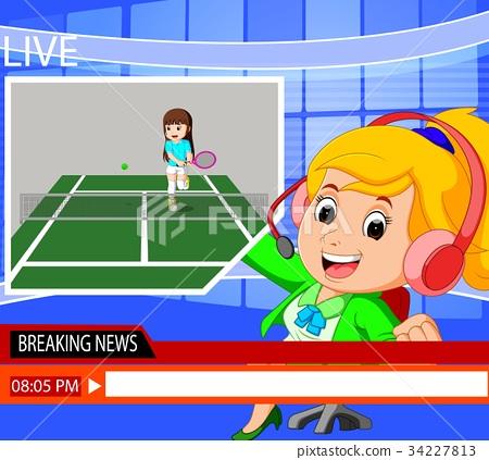 news reporter tennis sport 34227813