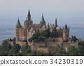 Hohenzollern castle near Hechingen in Germany 34230319