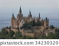 Hohenzollern castle near Hechingen in Germany 34230320