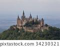 Hohenzollern castle near Hechingen in Germany 34230321