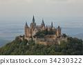 Hohenzollern castle near Hechingen in Germany 34230322