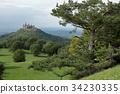 Hohenzollern castle near Hechingen in Germany 34230335